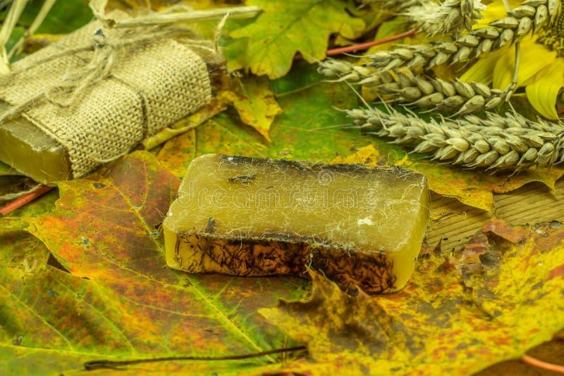Decoración coloreada del otoño con el jabón hecho a mano fotos de archivo libres de regalías