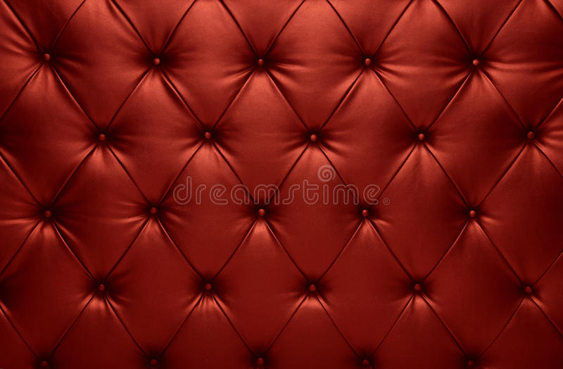 Decoración a cuadros del cuero del coche del capitone rojo fotos de archivo libres de regalías