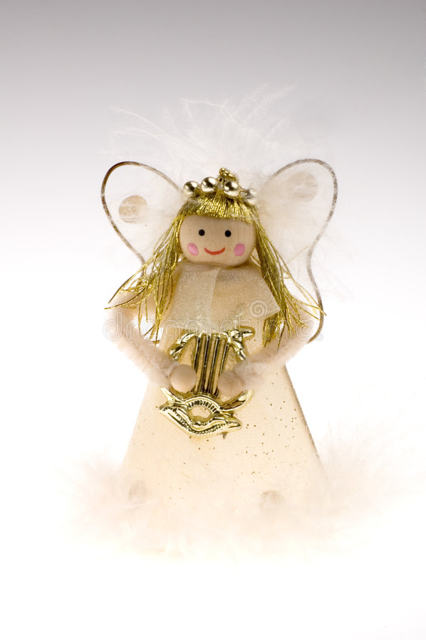 Decoración de hadas de la Navidad en blanco imágenes de archivo libres de regalías