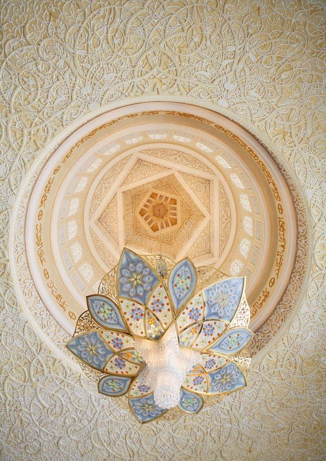 Decoración de jeque Zayed Mosque. Abu Dhabi fotografía de archivo libre de regalías