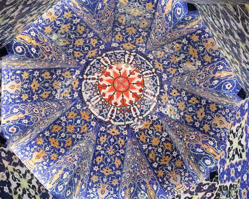 Decoración de la bóveda de la mezquita fotografía de archivo libre de regalías
