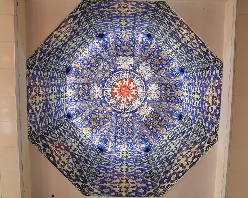 Decoración de la bóveda de la mezquita fotos de archivo