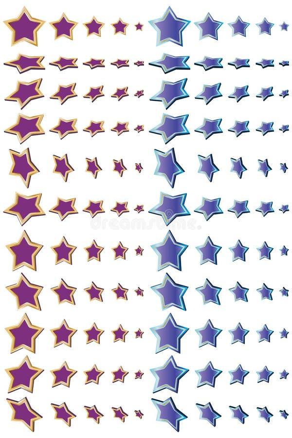 Decoración de la dimensión de la estrella stock de ilustración