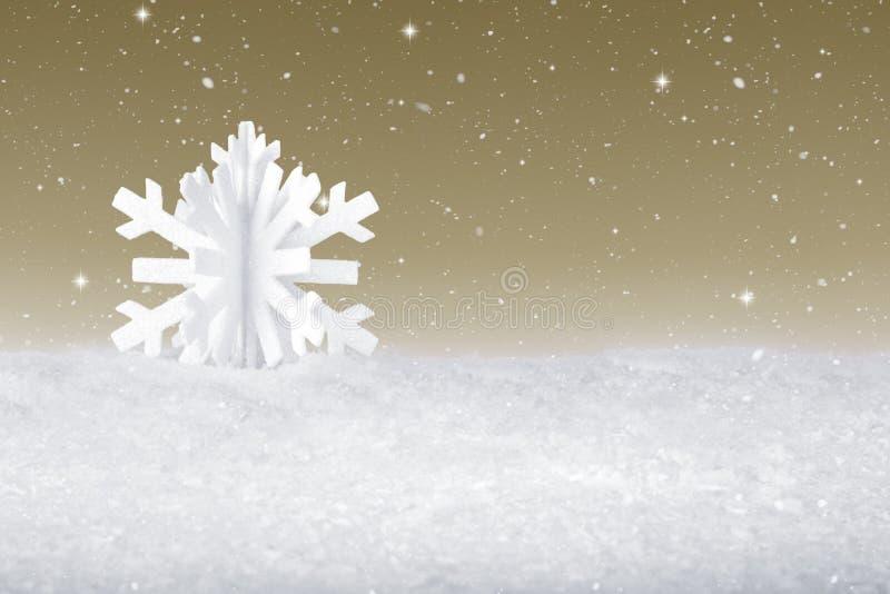 Decoración de la escama de la nieve de la Navidad blanca fotos de archivo libres de regalías