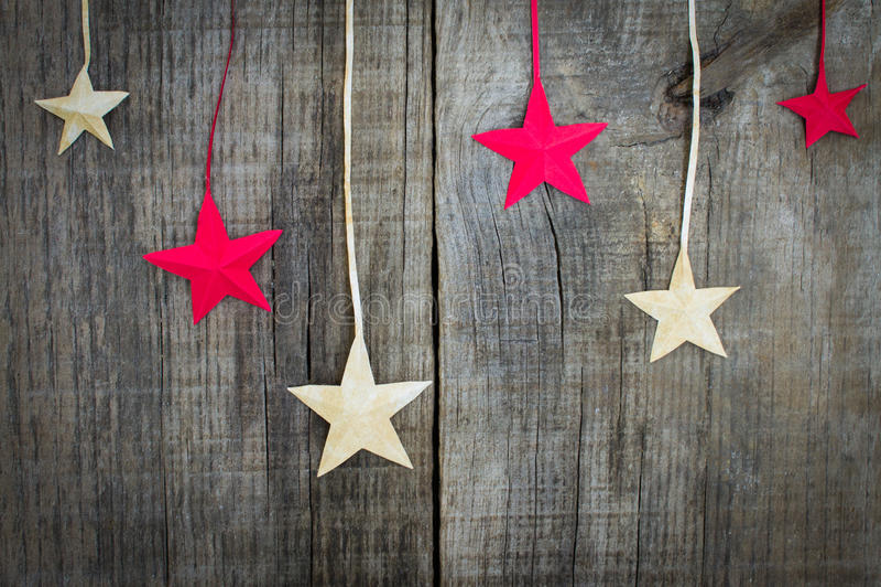 Decoración de la estrella de la Navidad imágenes de archivo libres de regalías