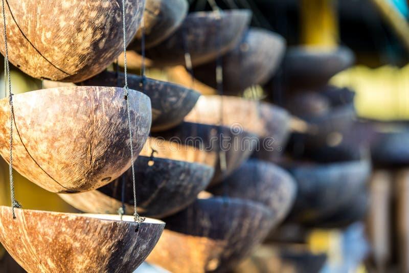 Decoración de la exhibición del coco imagen de archivo libre de regalías