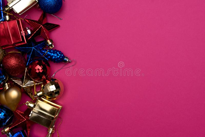 Decoración de la Feliz Navidad y de la Feliz Año Nuevo fotografía de archivo