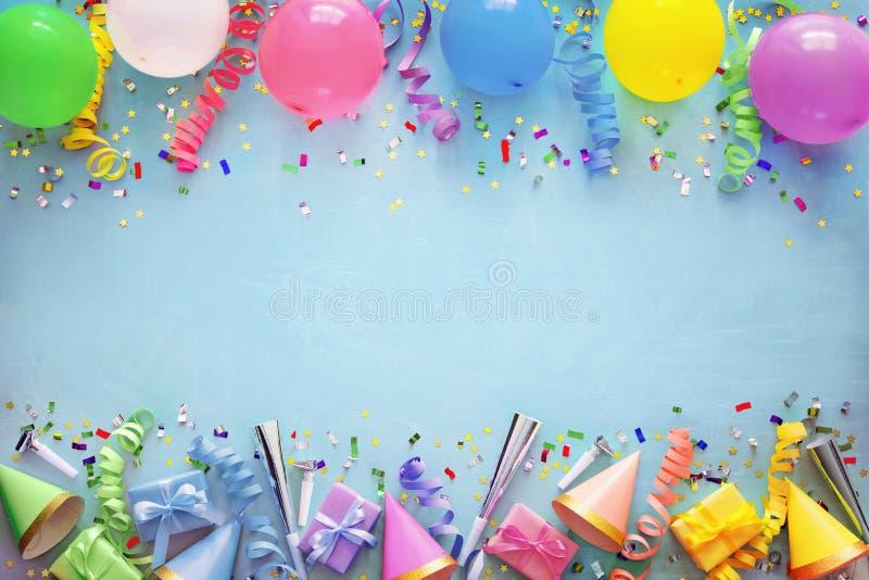 Decoración de la fiesta de cumpleaños imágenes de archivo libres de regalías