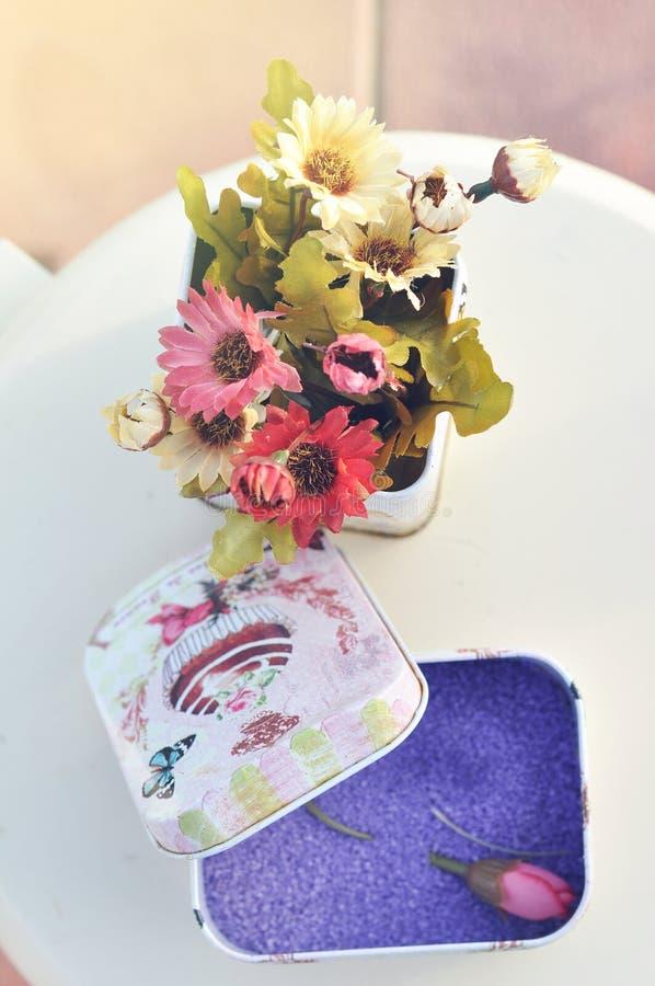 Decoración de la flor para casarse y el partido fotografía de archivo libre de regalías
