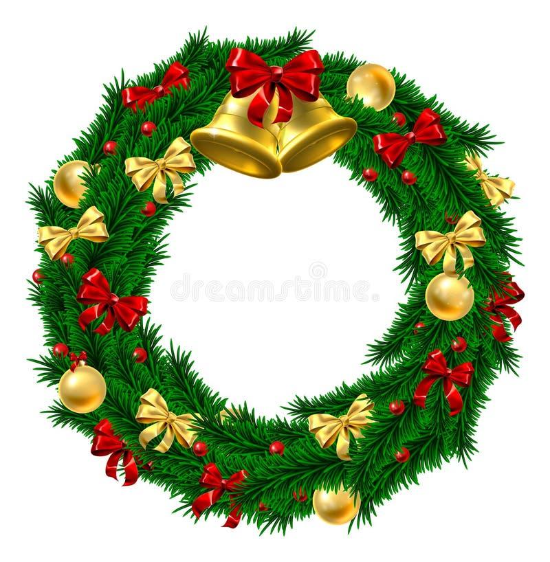 Decoración de la guirnalda de la Navidad libre illustration