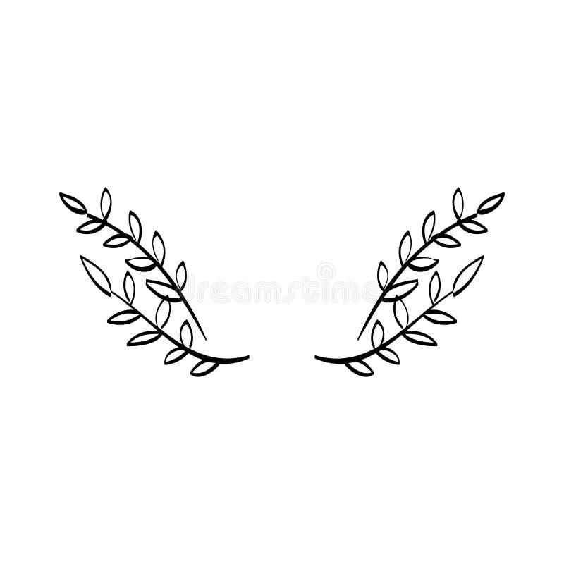 Decoración de la guirnalda de las hojas libre illustration