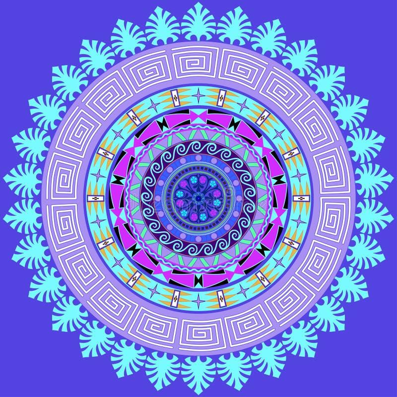 Decoración de la mandala Decoración dibujada mano del estilo para el libro de colorear ilustración del vector