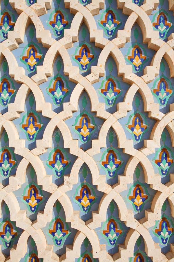 Decoración de la mezquita de Hassan II foto de archivo