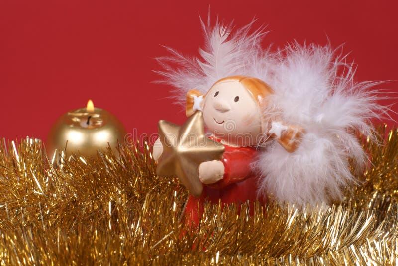 Decoración de la Navidad, ángel foto de archivo