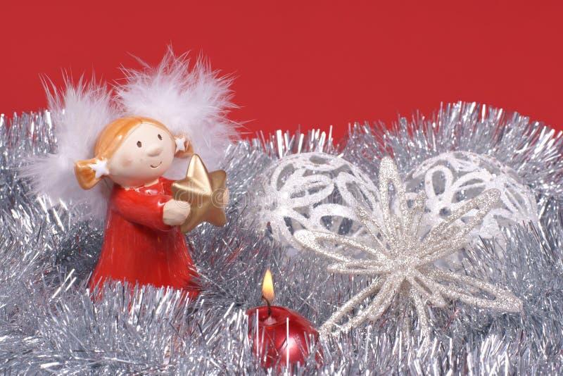 Decoración de la Navidad, ángel imagenes de archivo