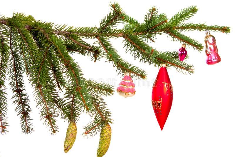Decoración de la Navidad aislada en el fondo blanco fotografía de archivo