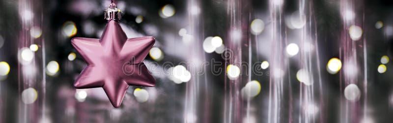 Decoración de la Navidad con la estrella roja imágenes de archivo libres de regalías