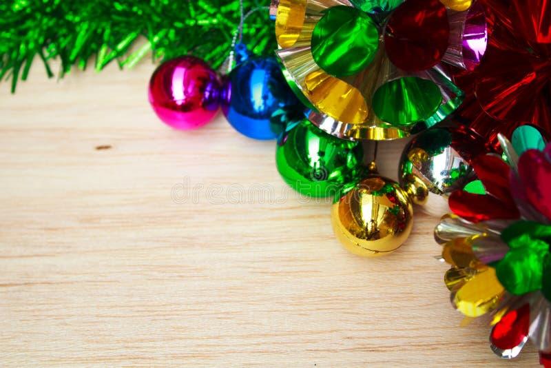 Decoración de la Navidad con las bolas. fotografía de archivo