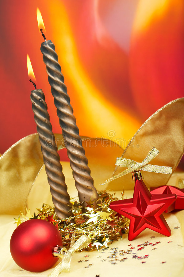 Decoración de la Navidad con las bolas imágenes de archivo libres de regalías