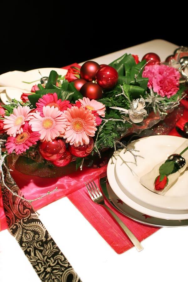 Decoración de la Navidad con las rosas imagen de archivo libre de regalías