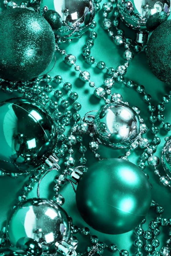 Decoración de la Navidad de la turquesa imagen de archivo