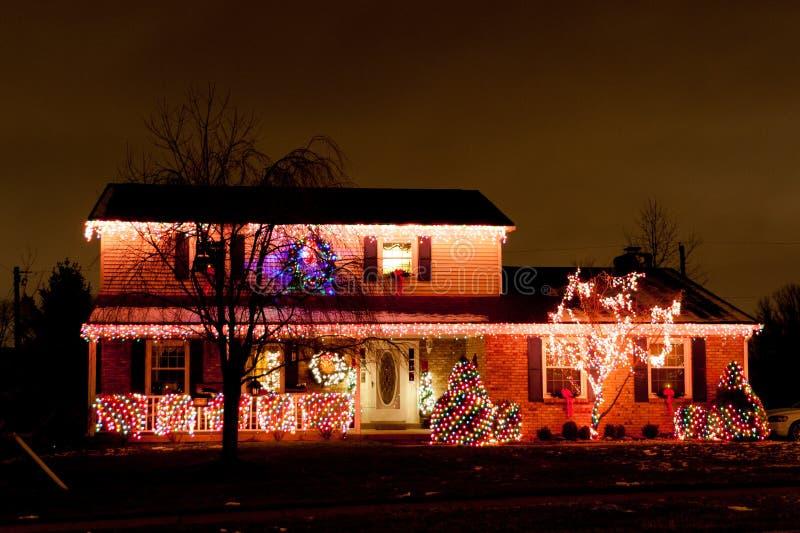 Decoración de la Navidad de un hogar americano típico. fotografía de archivo