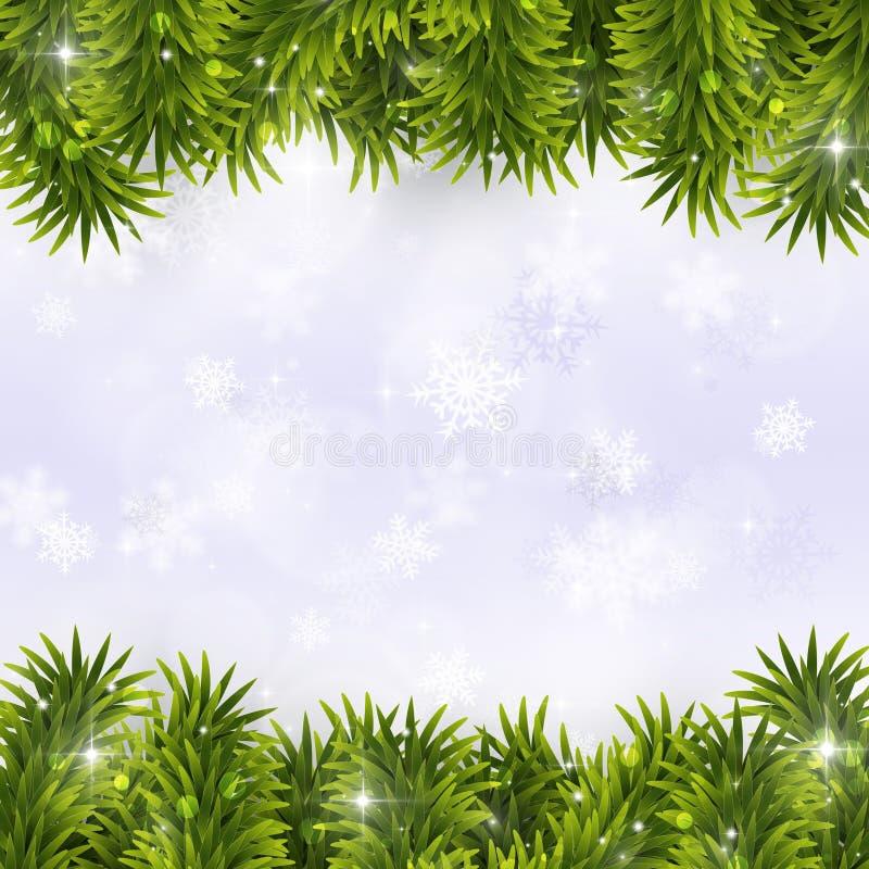 Decoración de la Navidad del abeto stock de ilustración