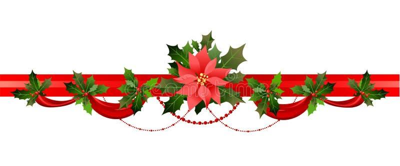 Decoración de la Navidad del invierno stock de ilustración