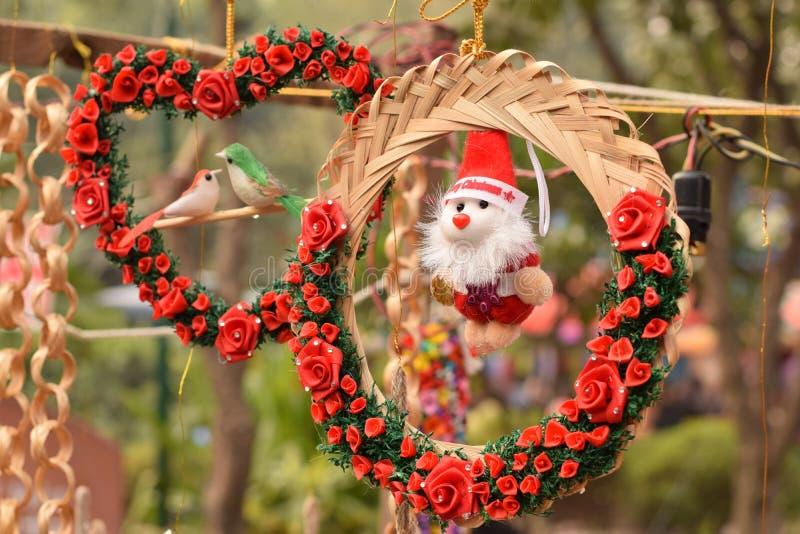 Decoración de la Navidad en Delhi, la India foto de archivo libre de regalías