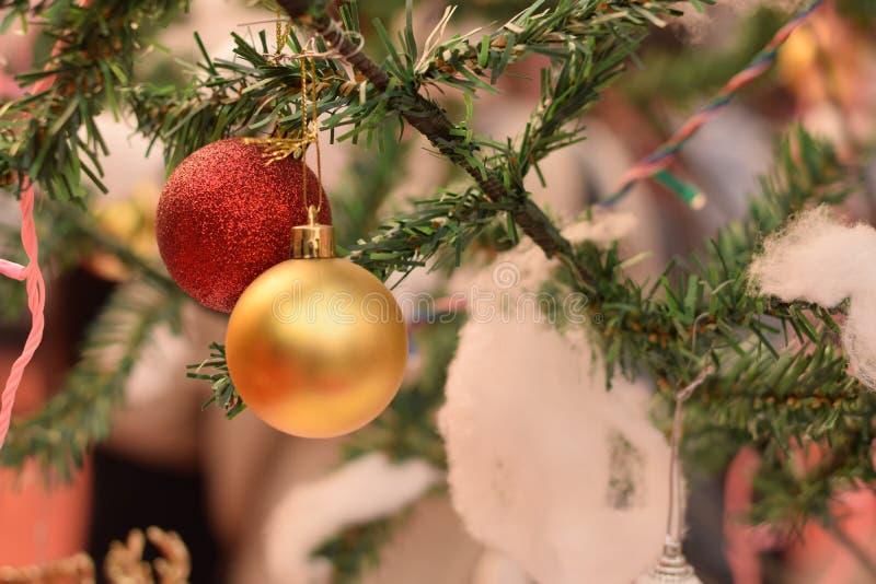 Decoración de la Navidad en Delhi, la India fotos de archivo