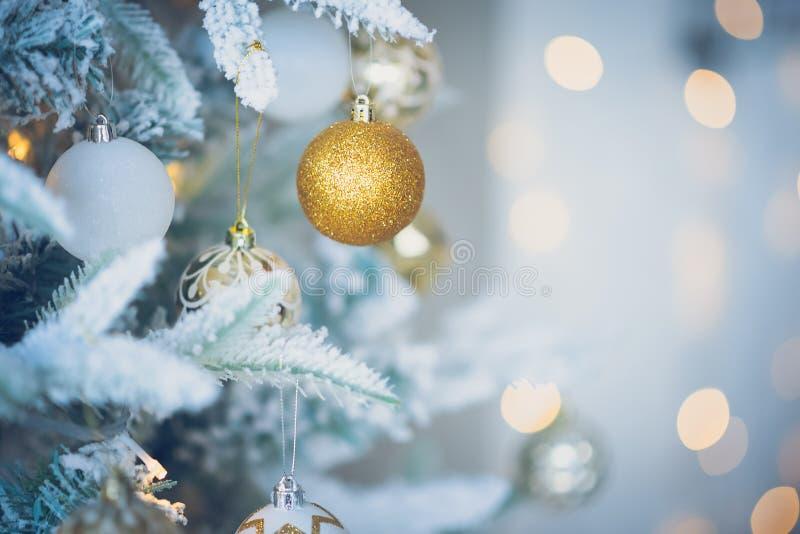 Decoración de la Navidad en fondo abstracto fotografía de archivo