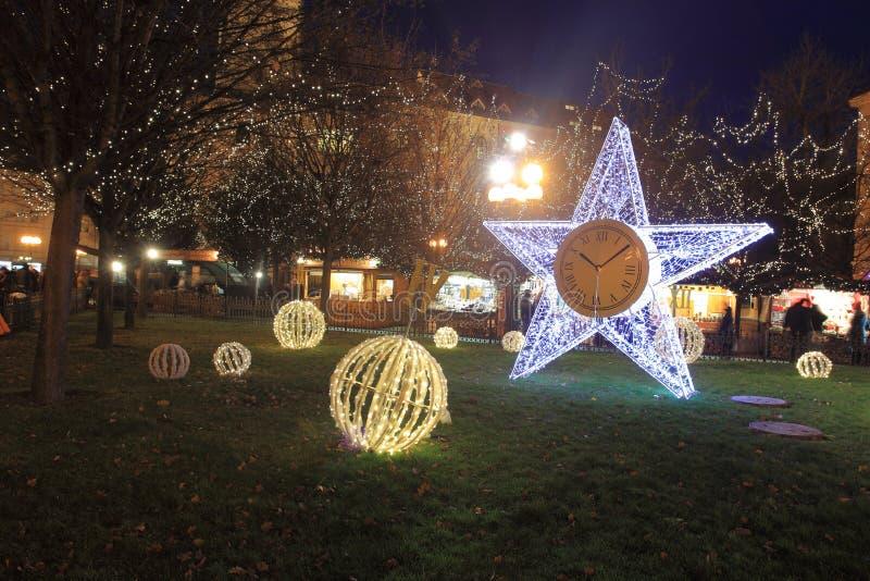 Decoración de la Navidad en Praga imágenes de archivo libres de regalías