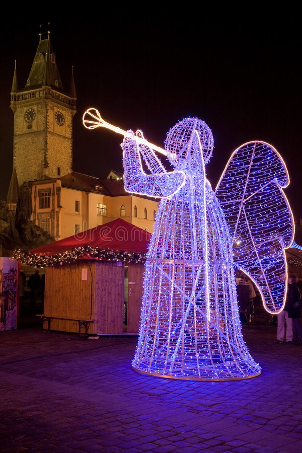 Decoración de la Navidad en Praga fotos de archivo libres de regalías