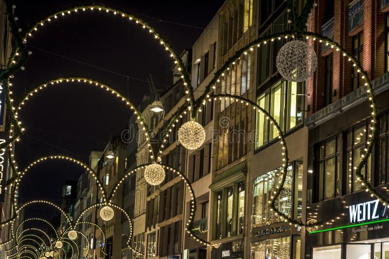 Decoración de la Navidad, Hamburgo, Alemania foto de archivo libre de regalías