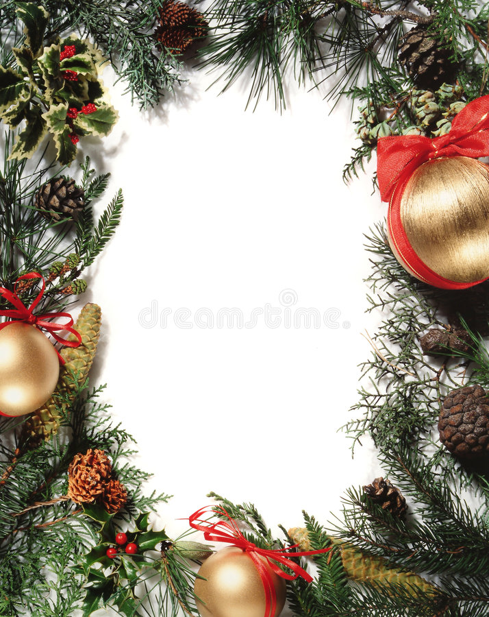 Decoración de la Navidad - marco imagen de archivo libre de regalías