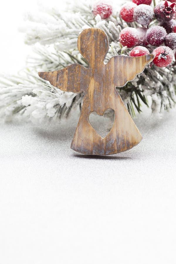 Decoración de la Navidad sobre el fondo de plata foto de archivo libre de regalías