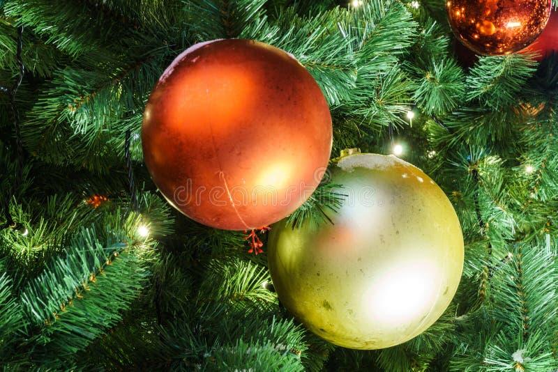 Decoración de la Navidad y del Año Nuevo en la ciudad de Moscú; viaje a Chr imagen de archivo libre de regalías