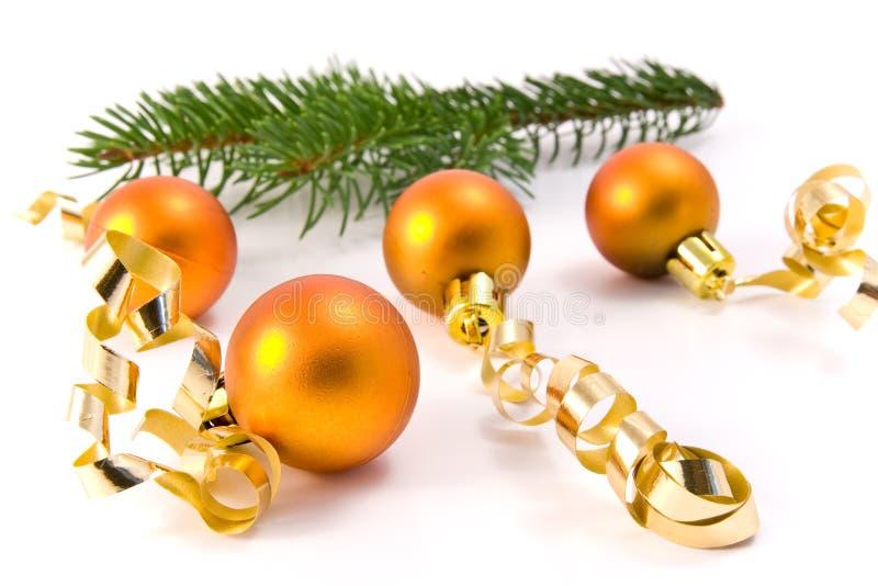 Decoración de la Navidad y ramificación de árbol foto de archivo libre de regalías