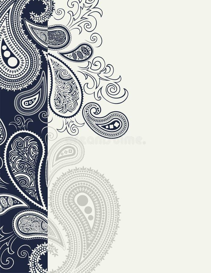 Decoración de la paginación de Cenefa Paisley ilustración del vector
