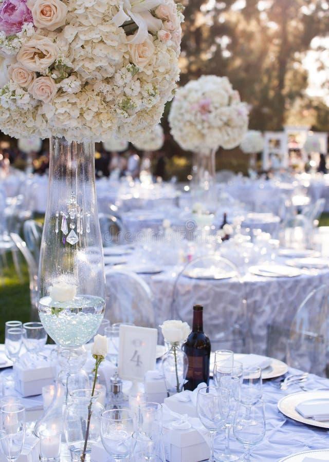 Decoración de la tabla de la boda fotos de archivo libres de regalías