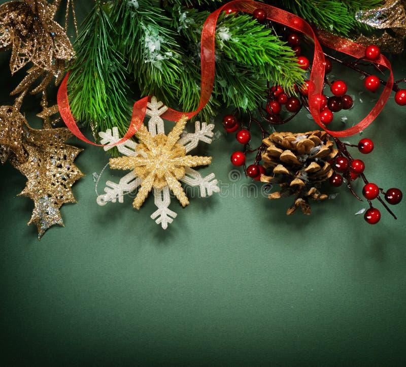 Decoración de la vendimia de la Navidad fotos de archivo