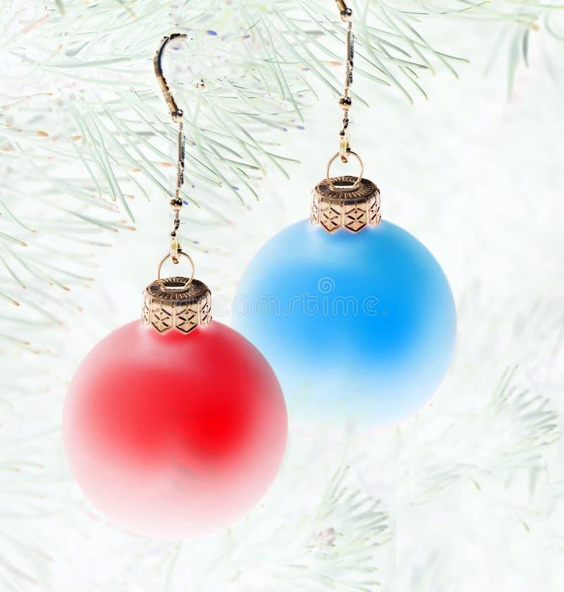 Decoración de las bolas de la Navidad foto de archivo