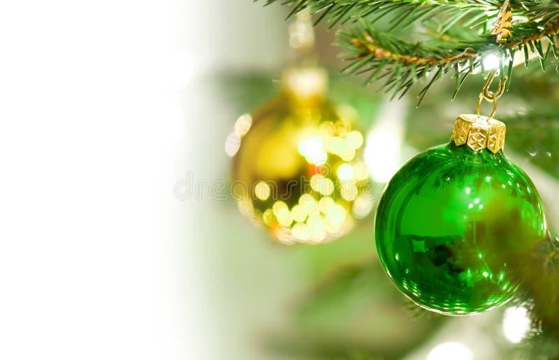 Decoración de las bolas de la Navidad fotos de archivo libres de regalías