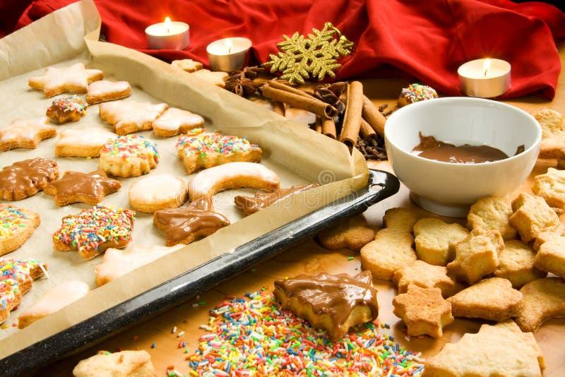 Decoración de las galletas de la Navidad fotos de archivo libres de regalías