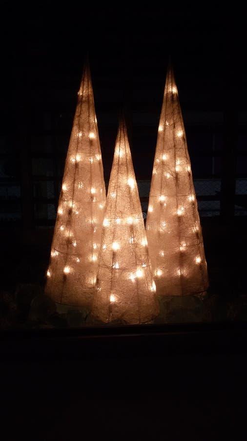 Decoración de los árboles de navidad foto de archivo libre de regalías