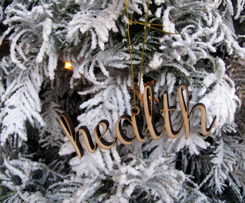 Decoración de madera del recorte de la palabra de la salud imagen de archivo libre de regalías