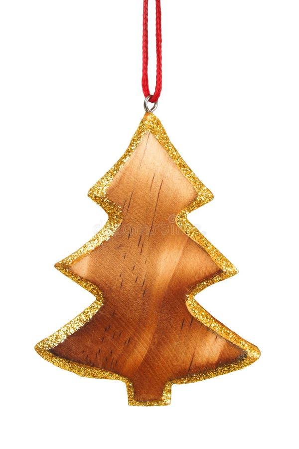 Decoración de madera de la Navidad imagen de archivo