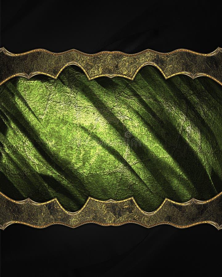 Decoración de oro con textura verde Plantilla para el diseño copie el espacio para el folleto o la invitación del aviso, backgro  libre illustration