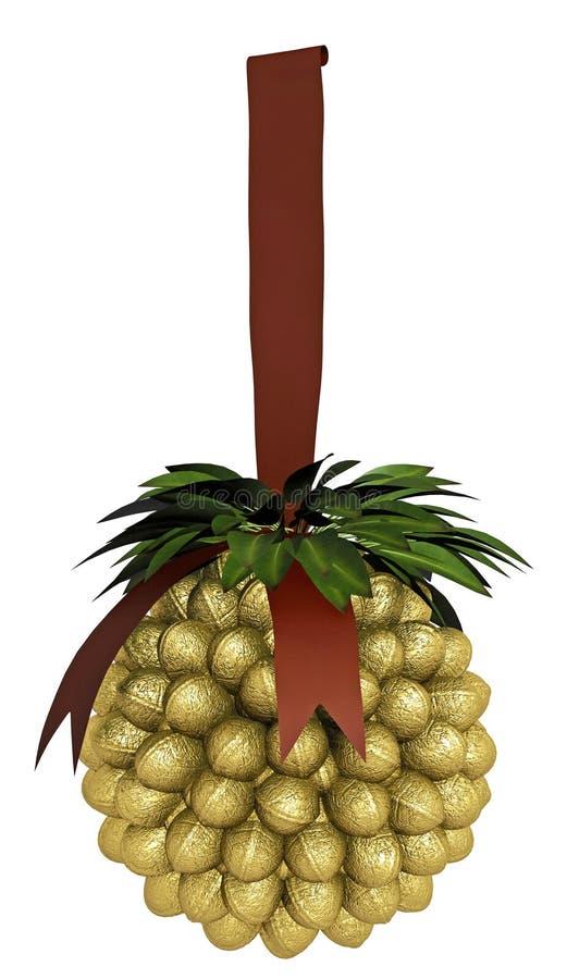 Decoración De Oro De La Navidad Imágenes de archivo libres de regalías
