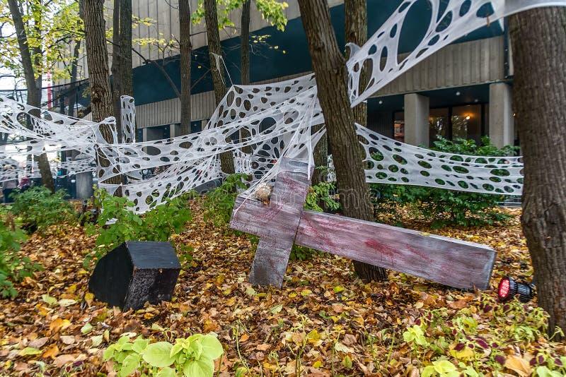 Decoración de Ronde Halloween del La fotografía de archivo libre de regalías